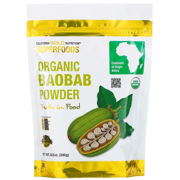 California Gold Nutrition, Superfoods, порошок органического баобаба, 8,5 унции (240 г) (Discontinued Item)