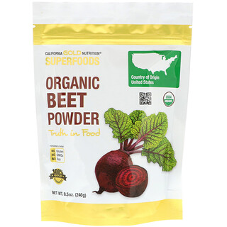 California Gold Nutrition, Superfoods, Organic Beet Powder, 8.5 oz (240 g)