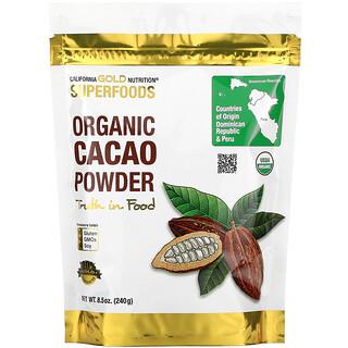 California Gold Nutrition, Superalimentos, Cacao orgánico en polvo, 240g (8,5oz)