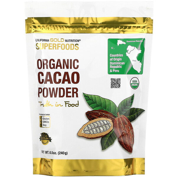 Superfoods, Organic Cacao Powder, 8.5 oz (240 g)