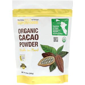California Gold Nutrition, Superfoods, Organic Cacao Powder, 8.5 oz (240 g) отзывы покупателей
