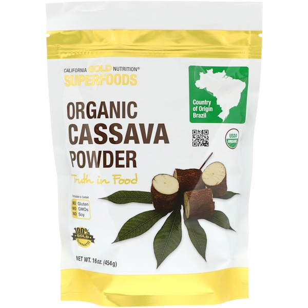 California Gold Nutrition, Superfoods, Organic Cassava Powder, 16 oz (454 g)