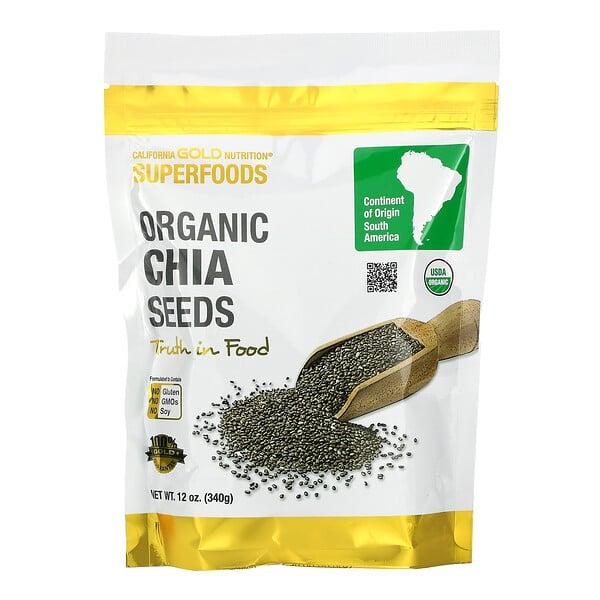 Superfoods, Organic Chia Seeds, 12 oz (340 g)
