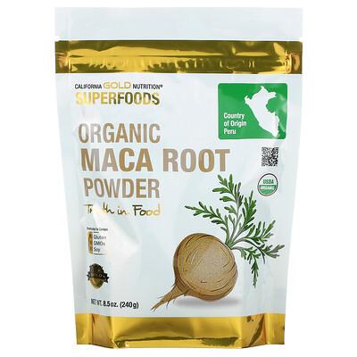 Купить California Gold Nutrition Superfoods, порошок органического корня маки, 240г (8, 5унции)
