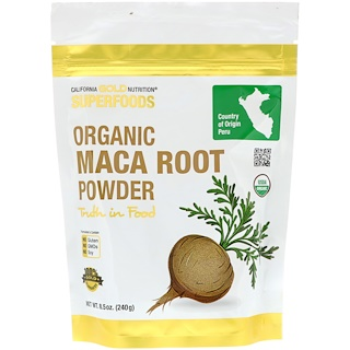 California Gold Nutrition, Superfoods, Organic Maca Root Powder, 8.5 oz (240 g)