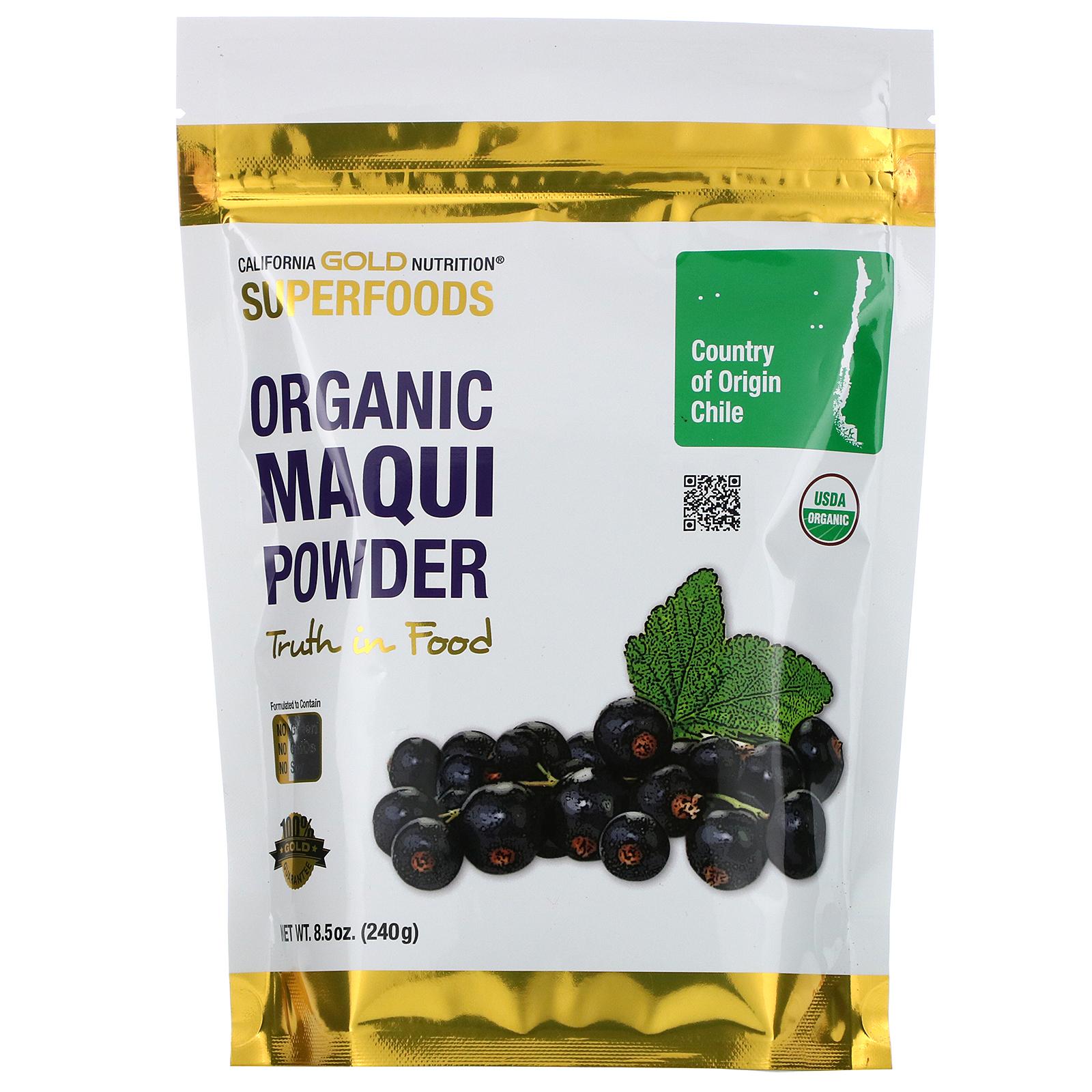 California Gold Nutrition Superfoods Organic Maqui Powder 8 5