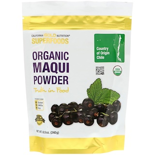 California Gold Nutrition, Superfoods, Organic Maqui Powder, 8.5 oz (240 g)