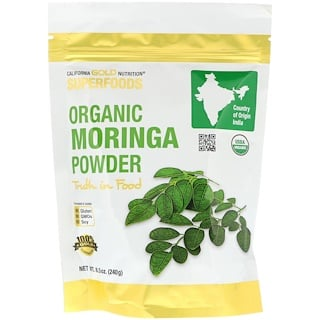 California Gold Nutrition, Superfoods, Organic Moringa Powder, 8.5 oz (240 g)