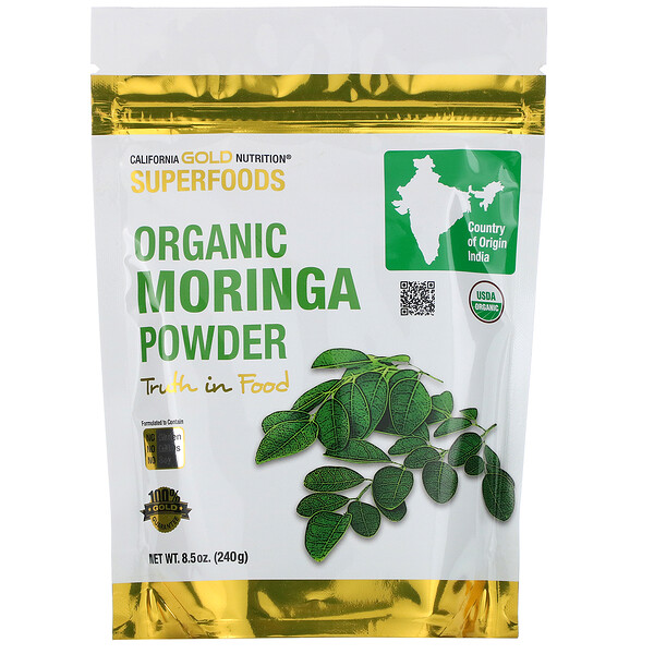 California Gold Nutrition, Superfoods, Organic Moringa Powder, 8.5 oz (240 g) (Discontinued Item)