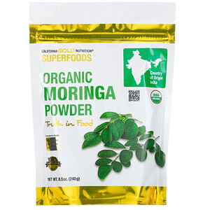 California Gold Nutrition, Superfoods, Organic Moringa Powder, 8.5 oz (240 g) отзывы покупателей