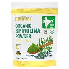 California Gold Nutrition, スーパーフード、オーガニックスピルリナパウダー、240g(8.5 oz)