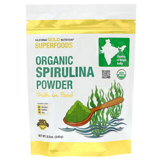 California Gold Nutrition, Superfoods, Organic Spirulina Powder, 8.5 oz (240 g)