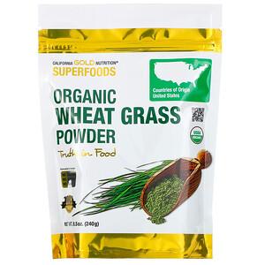California Gold Nutrition, Superfoods, Organic Wheat Grass Powder, 8.5 oz (240 g) отзывы