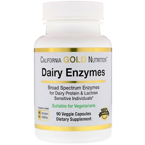 California Gold Nutrition, Dairy Enzymes, 90 Veggie Capsules отзывы