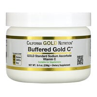 California Gold Nutrition, Buffered Gold C, gepuffertes Gold C, nicht saures Vitamin-C-Pulver, Natriumascorbat, 238 g (8,40 oz.)