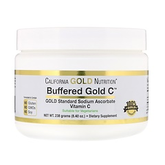California Gold Nutrition, Buffered Gold C, Non-Acidic Vitamin C Powder, Sodium Ascorbate, 8.40 oz (238 g)