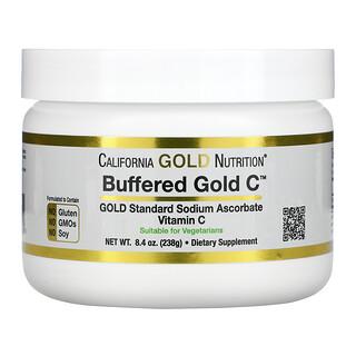California Gold Nutrition, Buffered Gold C, некислый буферизованный витаминC в форме порошка, аскорбат натрия, 238г (8,4унции)