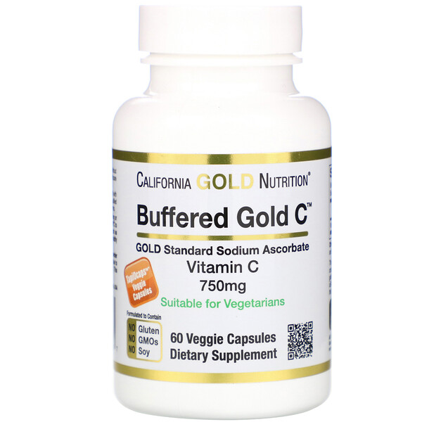 Buffered Vitamin C Capsules, 750 mg, 60 Veggie Capsules