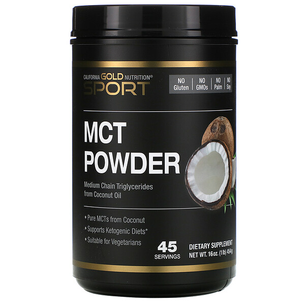 California Gold Nutrition, MCT Powder, Coconut & Prebiotic Acacia Fiber, 16 oz (454 g) (Discontinued Item)