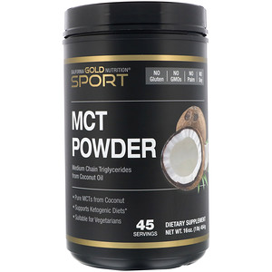 California Gold Nutrition, MCT Powder, Coconut & Prebiotic Acacia Fiber, 16 oz (454 g)