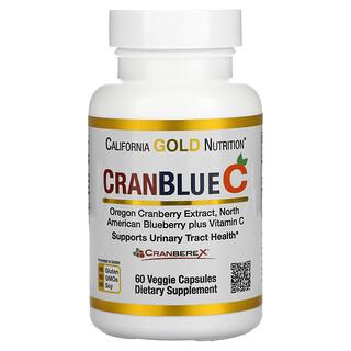 California Gold Nutrition, CranBlueC, клюква и голубика с витаминомC, 60растительных капсул