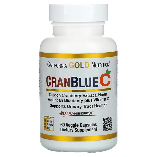 California Gold Nutrition, CranBlueC, Cranberry, Blueberry, Vitamin C, 60 Veggie Capsules