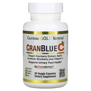 California Gold Nutrition, CranBlueC, Cranberry, Blueberry, Vitamin C, 60 Veggie Capsules отзывы покупателей