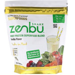 California Gold Nutrition, Zenbu Shake, Whey Protein Superfood Blend, Vanilla Flavor, 19 oz (540 g) отзывы
