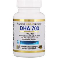 Рыбий жир ДГК 700, фармацевтического класса, 1000 мг, 30 желатиновых мягких таблеток в форме рыбок - фото