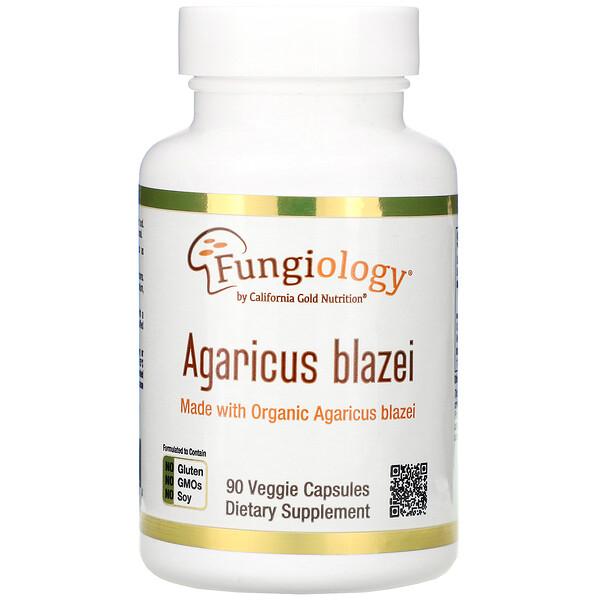 Agaricus Blazei, Full Spectrum, Organic Certified, 90 Veggie Capsules