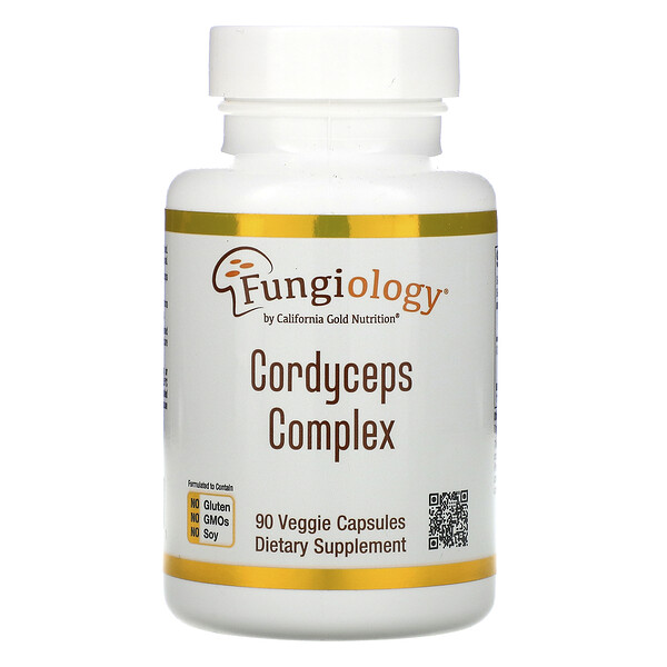 California Gold Nutrition, Fungiology, Cordyceps Complex, 90 Veggie Capsules