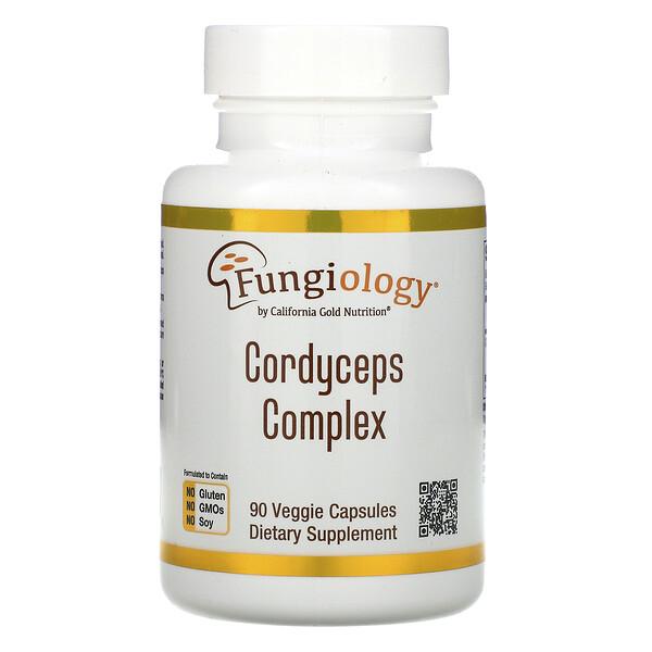 Fungiology,蟲草複合物,90 粒素食膠囊