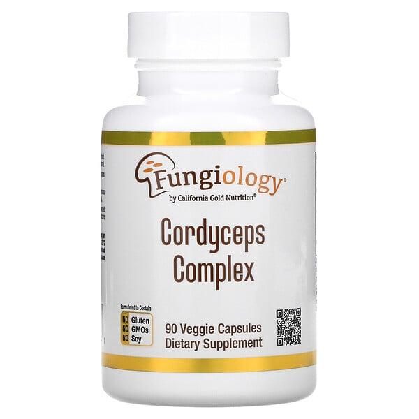 California Gold Nutrition, Fungiology، مركب كورديسيبس، 90 كبسولة نباتية