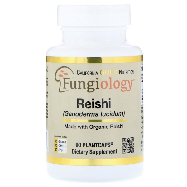 California Gold Nutrition, Reishi (Ganoderma Lucidum), Full-Spectrum, Certified Organic, Cellular Support, 90 Plantcaps