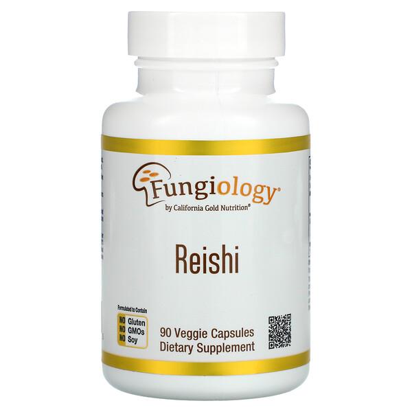 California Gold Nutrition, Reishi (Ganoderma Lucidum), Full-Spectrum, Certified Organic, Cellular Support, 90 Veggie Capsules