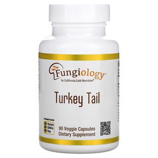 California Gold Nutrition, Fungiology(ファンジャイオロジー)、フルスペクトラムカワラタケ、Plantcap(プラントキャップ)90粒