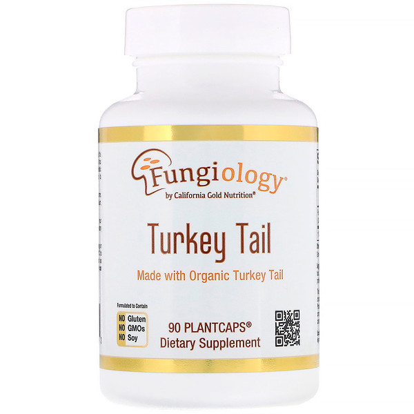 California Gold Nutrition, Fungiology, Full-Spectrum Turkey Tail, 90 Plantcaps