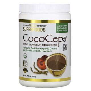 California Gold Nutrition, SUPERFOODS - CocoCeps, Organic Cocoa, Cordyceps & Reishi, 7.93 oz (225 g)