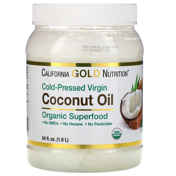 Cold-Pressed Organic Virgin Coconut Oil, 54 fl oz (1.6 L)