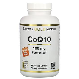 California Gold Nutrition, الإنزيم المساعد CoQ10، 100 ملجم، 360 كبسولة هلامية نباتية
