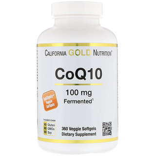 California Gold Nutrition, CoQ10, 100 mg, 360 الخضروات الناعمة