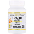 California Gold Nutrition, CoQ10 100 mg with PQQ 10 mg, 60 Veggie Softgels
