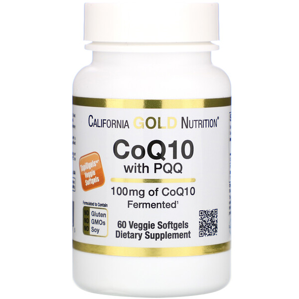 CoQ10 100 mg with PQQ 10 mg, 60 Veggie Softgels