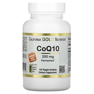California Gold Nutrition, CoQ10, 200mg, 120vegetarische Weichkapseln