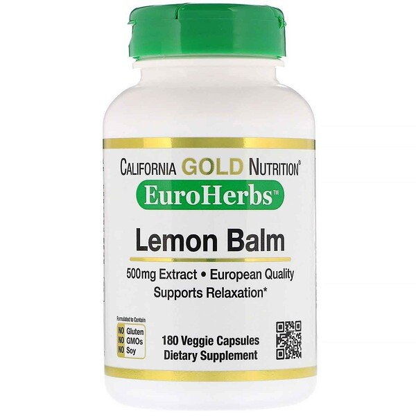 Lemon Balm Extract, European Qualtity, 500 mg, 180 Veggie Caps