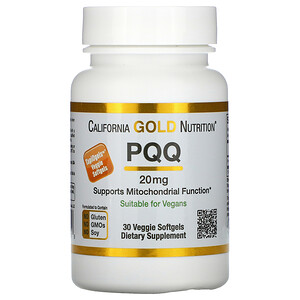 California Gold Nutrition, PQQ, 20 mg, 30 Veggie Softgels отзывы покупателей