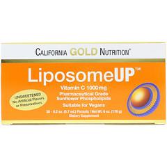 California Gold Nutrition, リポソームUP、リポソームビタミンC、1000mg、30包、各0.2オンス(5.7ml)