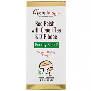 California Gold Nutrition, Fungiology, Red Reishi with Green Tea & Ribose, Energy Blend, 2 fl oz (60 ml) отзывы покупателей