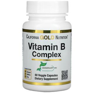California Gold Nutrition, Vitamin B Complex, 60 Veggie Capsules