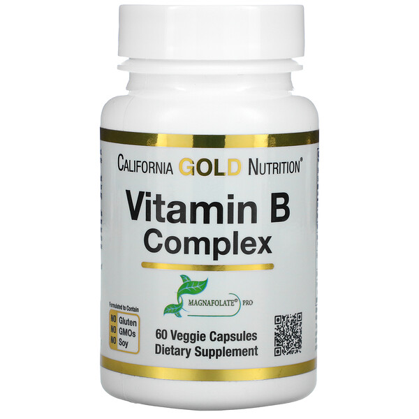 California Gold Nutrition, Vitamin B Complex, 60 Veggie Capsules